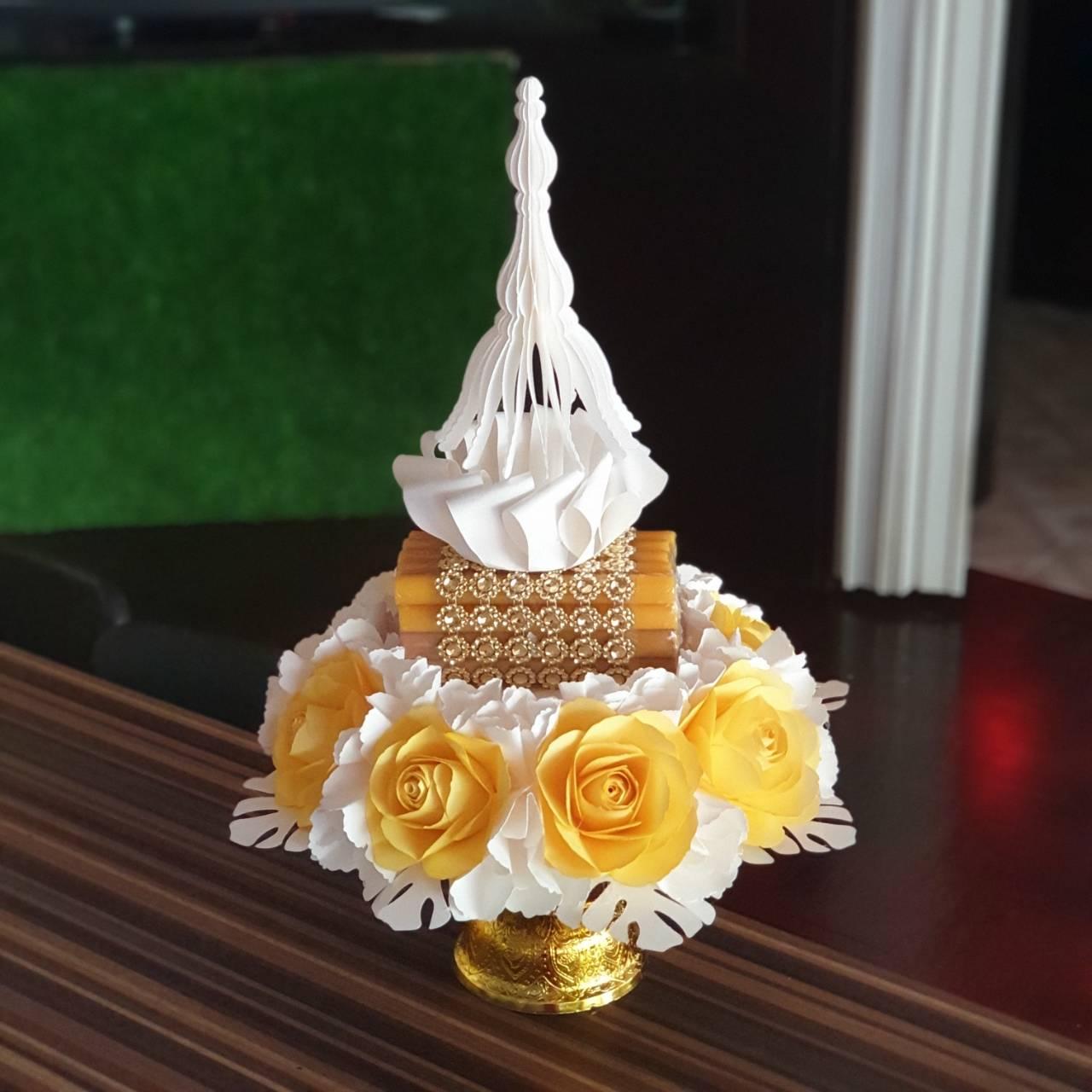 พาน ขันหมาก พานเทียนแพ แพคเกจ แต่งงาน ฉาก ดอกไม้ งานแต่ง
