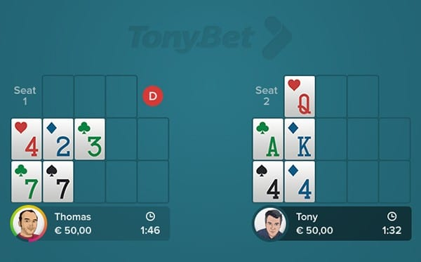Open-face Chinese Poker - Simple 04