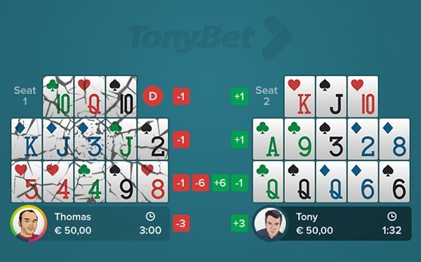 Open-face Chinese Poker - Fantasy Land - 04