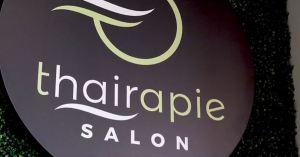 Thairapie Salon hair salon in Southlake sign and logo