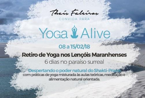 Yoga Alive – Lençóis Maranhenses: de 08 a 15/02/2018