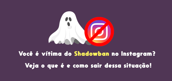 Capa do post que possue um fantasma banindo o icone do Instagram