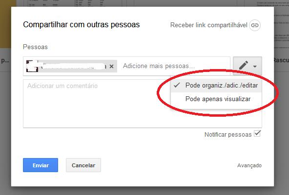 Limitando o acesso de alguém no Google Drive