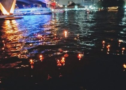 Loy Krathong 2018: Floating boats in Bangkok