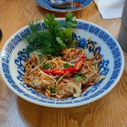 spicy pork dumplings tana bangkok restaurant