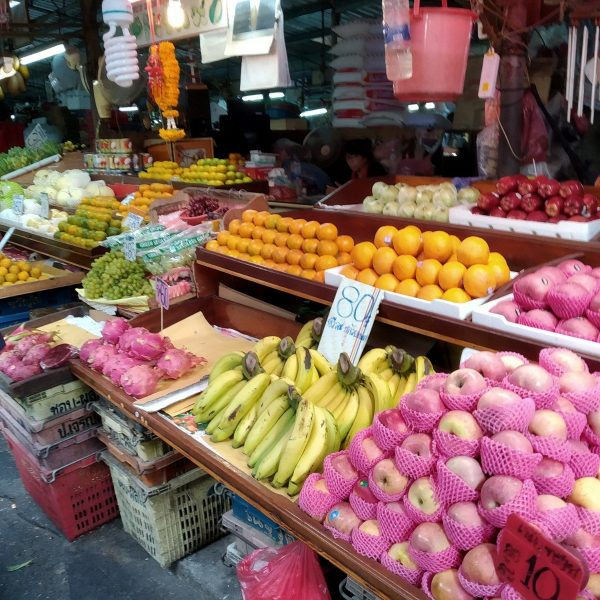 Fruit at Khlong Toei market in Bangkok