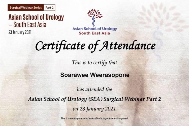 ASU Webinar 2 Certificate Soarawee Weerasopone