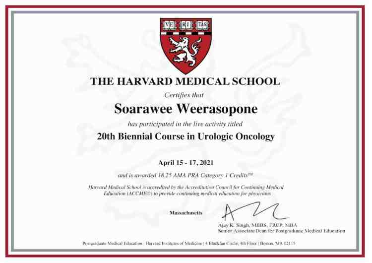 2021 20th Biennial course in Urologic Oncology