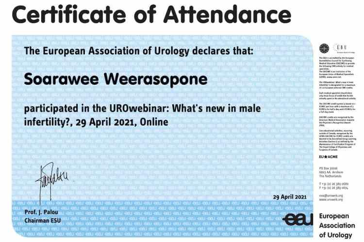 2021 EAU Update in Male Infertility
