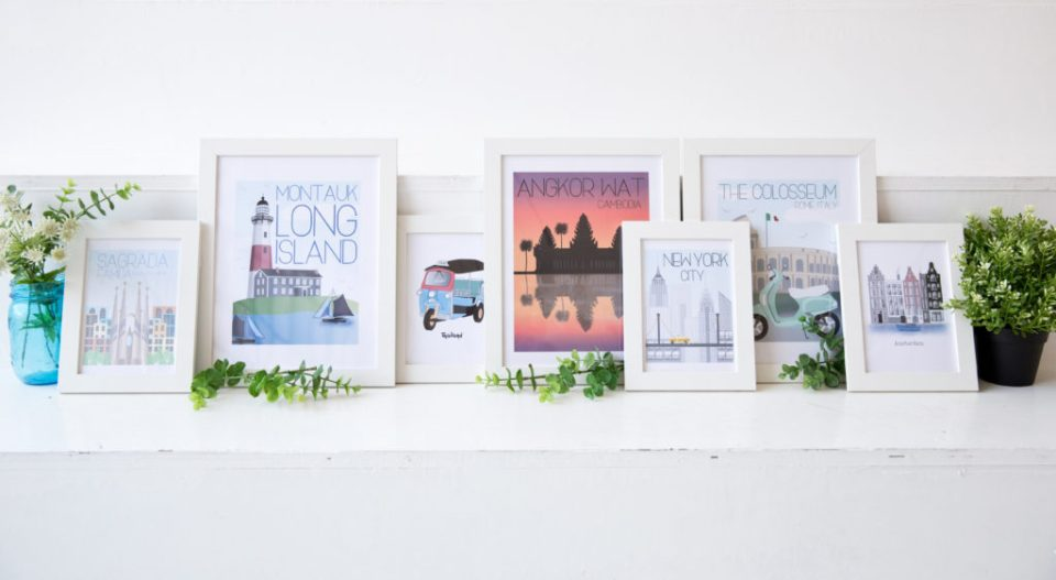 Graphic Design frames from Fox Burrow Designs