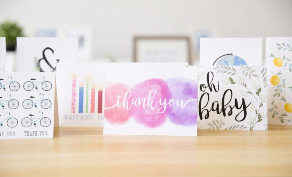 Fox Burrow Designs custom made note cards