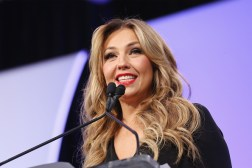 NEW YORK, NY - OCTOBER 18: Singer Thalia speaks during the 4th Annual People en Espanol Festival at Jacob Javitz Center on October 18, 2015 in New York City. (Photo by Mireya Acierto/FilmMagic)