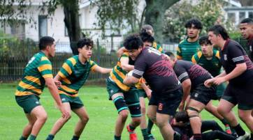 Paeroa College and Waihi College face off in the 1st XV draw.