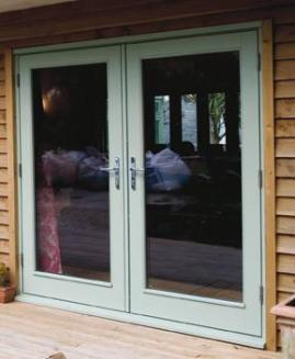 D timber french doors