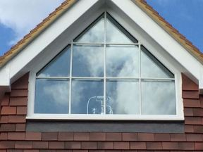 UPVc window with Georgian bar