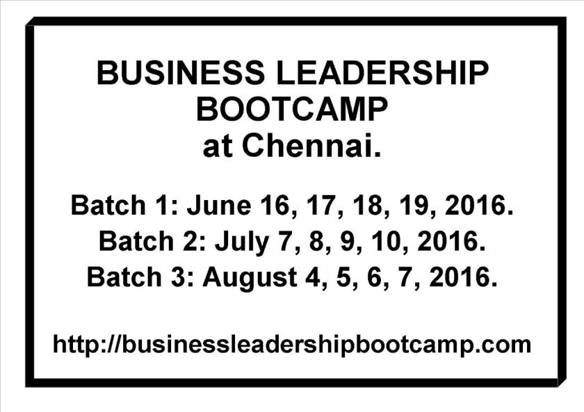 Business Leadership Bootcamp by Dr Maharaja SivaSubramanian N