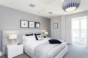 Schlafzimmer Blaugrau Einfach On Und Wandfarbe Grau Im 77 ...