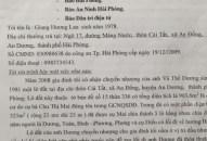 Đơn thư bạn đọc:  Về đơn kiến nghị của bà Giang Hương Lan tại xã An Đồng (An Dương)