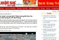 Tước giấy phép 2 tháng và phạt 50 triệu đồng Tạp chí điện tử Luật sư Việt Nam