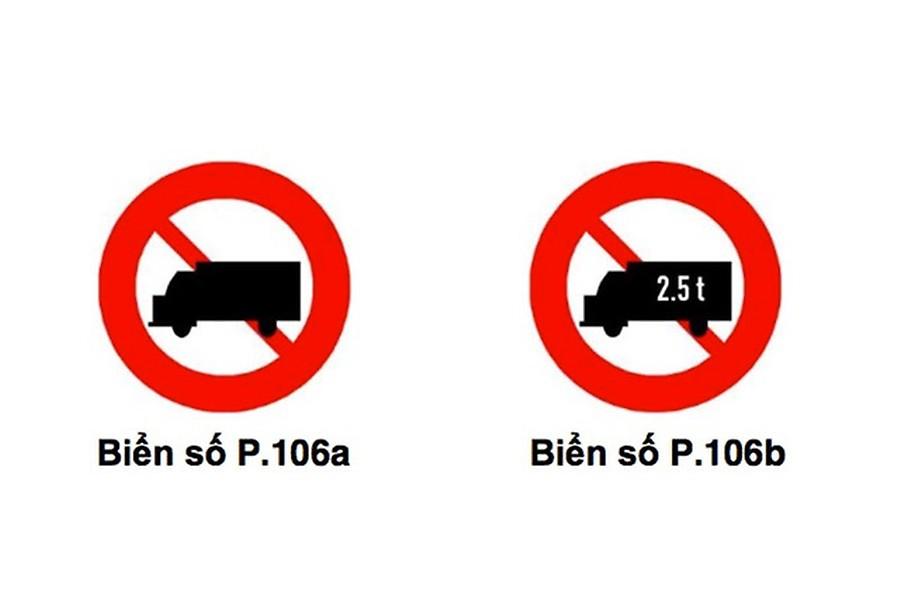 biển báo cấm tải không phân biệt tải trọng