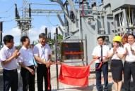 Gắn biển công trình nâng công suất điện Trạm biến áp 110KV Cát Bi