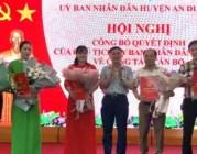 Huyện An Dương: Công bố các quyết định điều động, bổ nhiệm cán bộ