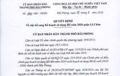 Bổ sung kế hoạch sử dụng đất năm 2020 quận Lê Chân