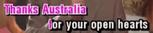 Thanks Australia
