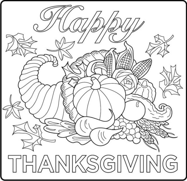 thanksgiving coloring pages # 3