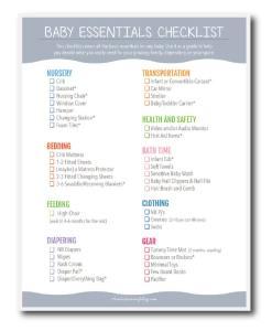 Baby Essentials Checklist PREVIEW