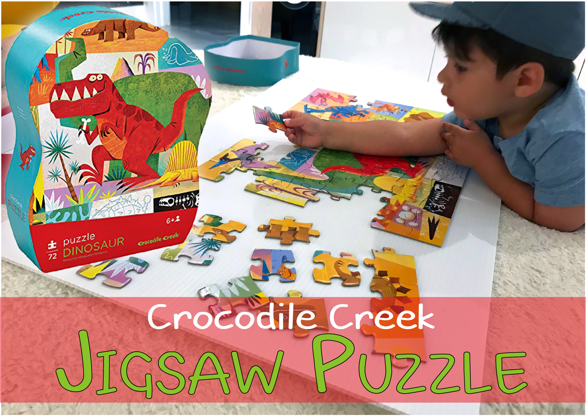 Crocodile Creek Dinosaur Junior Jigsaw Puzzle