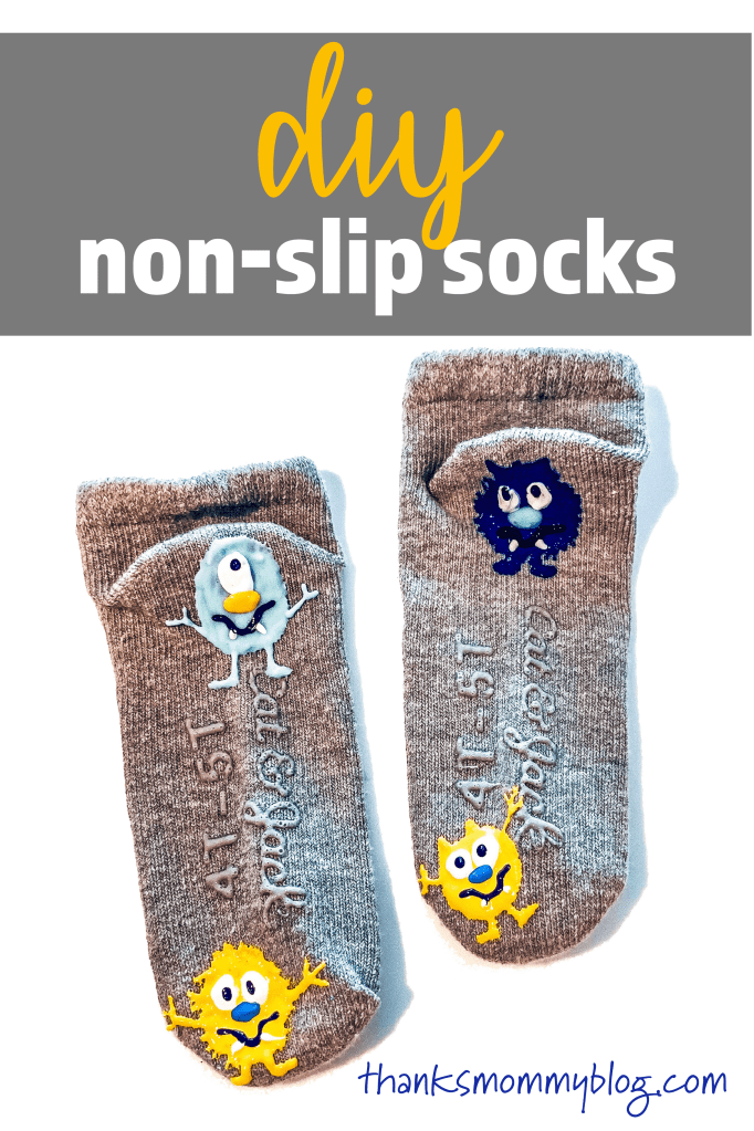 easy DIY Non-Slip Socks for Kids