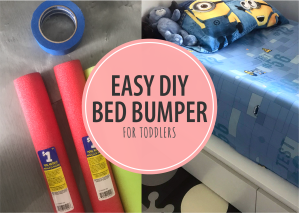 Easy DIY Toddler Bed Bumper – Solution for Toddlers Falling Out of Bed