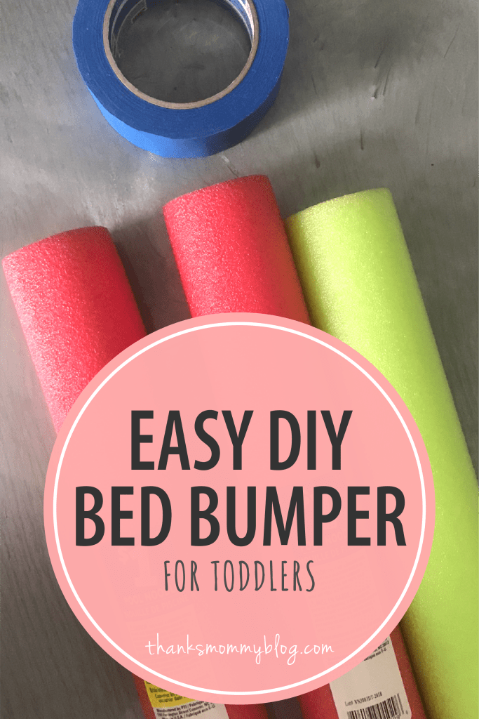 Easy DIY Toddler Bed Rail Bumper