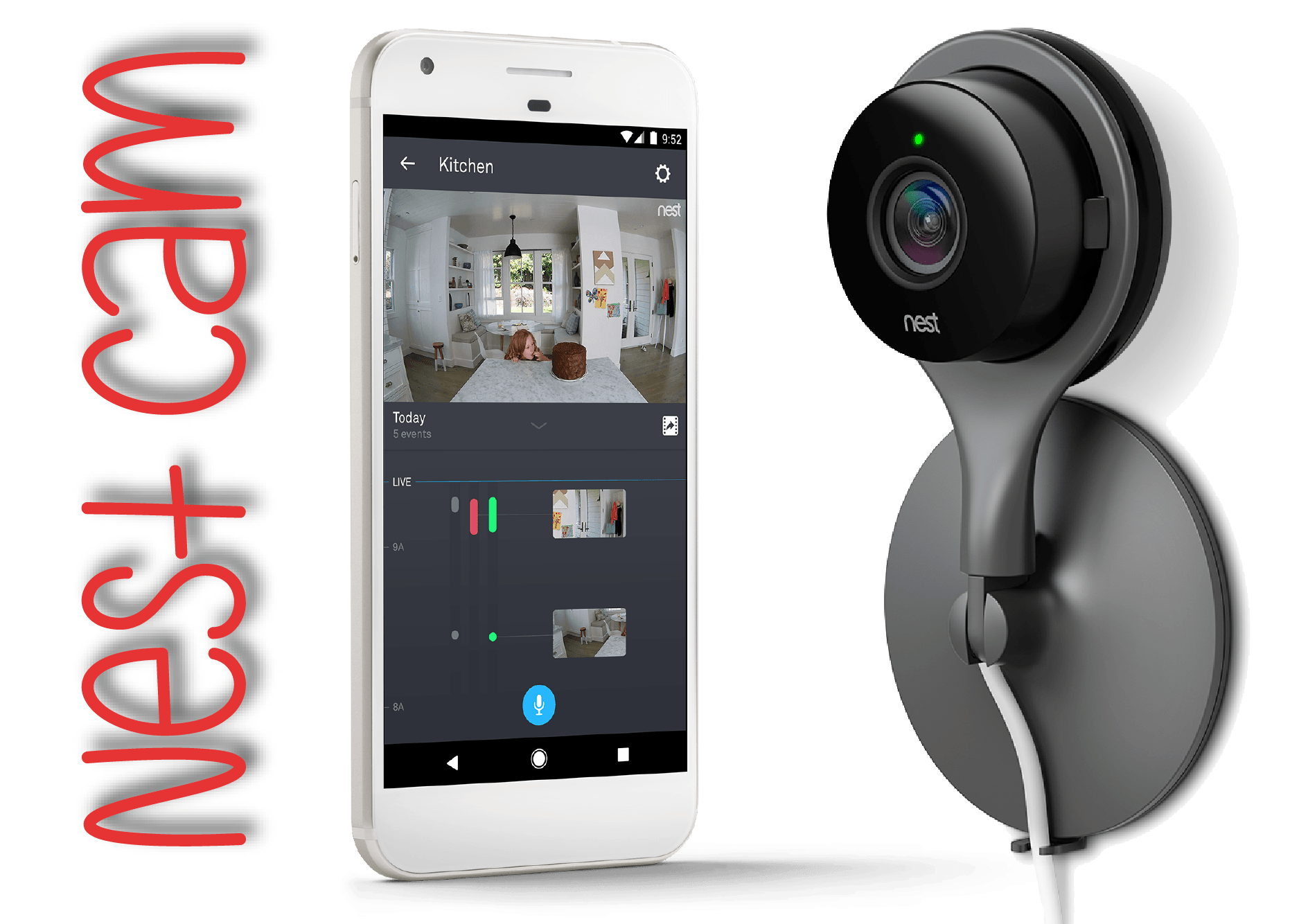 Nest Indoor Camera- Great as Baby Monitor