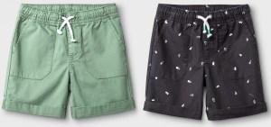 Toddler Boys' 2pk Pull-On Shorts - Cat & Jack™ Sage:White Dash Print