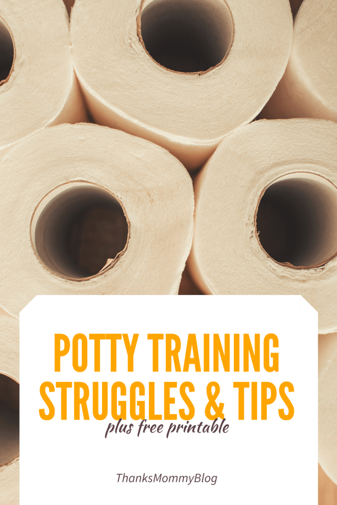 Potty Training Struggles and Tips + Free Printable