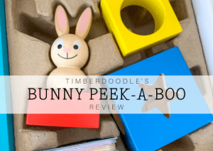 Read more about the article Timberdoodle's Bunny Peek-a-Boo Review