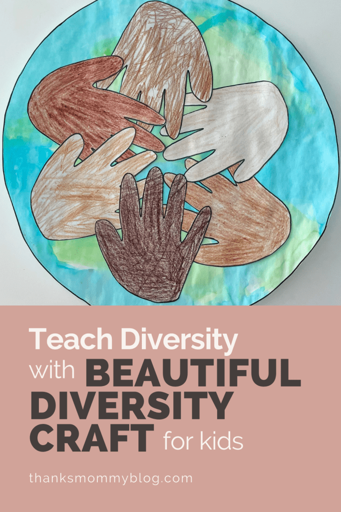 Teach Diversity with Beautiful Diversity Craft For Kids