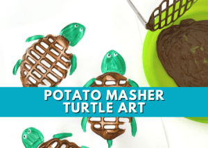 Read more about the article Fun And Simple Turtle Art For Kids Using A Potato Masher