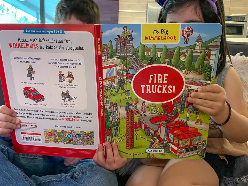 My Big Wimmelbook: Fire Trucks! Review - Great for Pre-Reading Skills