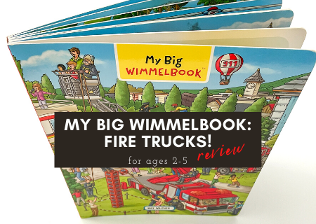 My Big Wimmelbook: Fire Trucks! Review – Great for Pre-Reading Skills