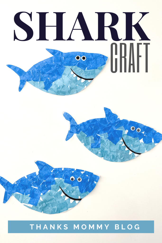 Super Cute Tissue Paper Shark Craft for Preschool Kids That Will Make You Smile
