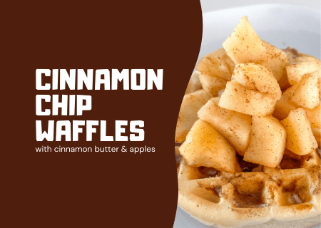 Read more about the article Our Favorite Homemade Waffles Recipe with Cinnamon Butter and Apples