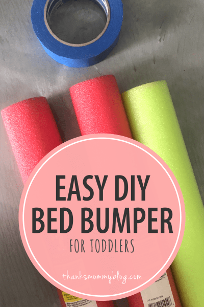 Easy DIY Bed Bumper for Toddlers