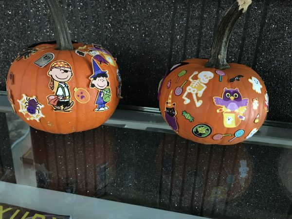 Decorating Pumpkins with Toddlers