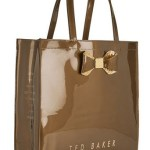 Ted Baker Womens Glicon Crystal Bow Large Icon Bag - Gold