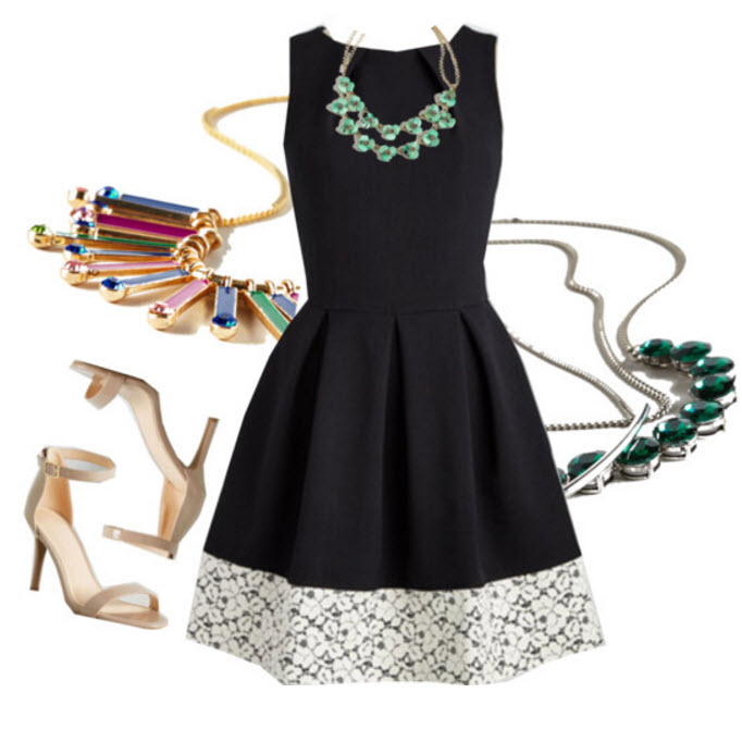 Get the look with black vintage dress
