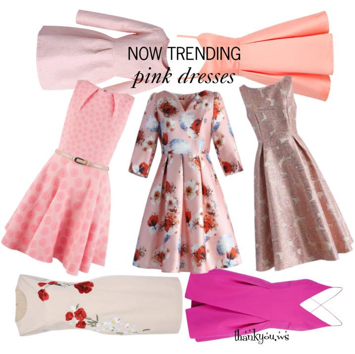 Now Trending - pink dresses