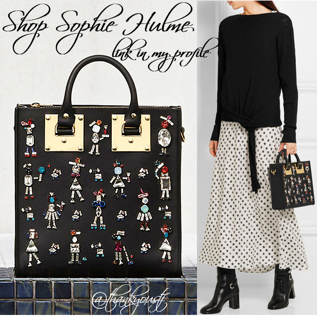 shop Sophie Hulme Albion Swarovski crystal-embellished matte-leather tote